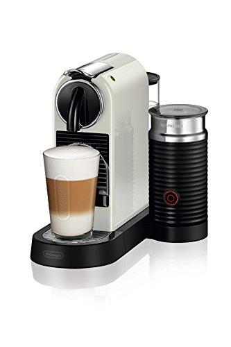 De'Longhi Nespresso Citiz EN267.WAE Kaffemaschine, Hochdruckpumpe und ideale Wärmeregelung mit Aeroccino (Milchaufschäumer), Energiesparfunktion, creme-weiß