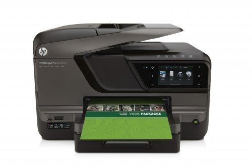 HP Officejet Impresora multifuncional HP Officejet Pro 8600 Plus con conexión web - Impresora multifunción (De inyección de tinta, Copiar, fax, Imprimir, Escanear, Copiar, Imprimir, 20 ppm, 16 ppm, auto)