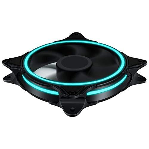 Kongqiabona-UK Tornillos Ordenador PC Ventilador de Escritorio Enfriador Chasis de Tres Aberturas 12 cm Ventilador silencioso Fuente de alimentación de 12 V Ventilador de refrigeración Accesorios
