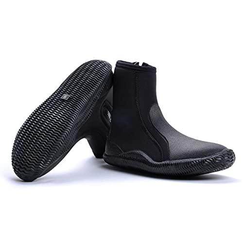 POOPFIY Botas de Traje de Neopreno de 5 mm de Neopreno Snorkeling Zapatos de Surf, Calcetines de la Playa de natación de Surf Debajo del Agua Socks Socks Boots,47