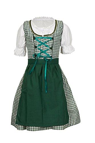 MS-Trachten Cuadros Niñas Tirolesa Vestidos Set Lena niña 3 Piezas