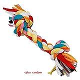 Fangfeen Colorful Bone Cane della tirata Giocattolo da Masticare Cotone Doppio Nodo Corda Intrecciata Pet Woven Molar Accessori