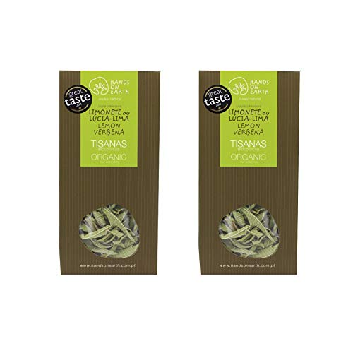 Hands on Earth Organic Lemon Verbena Tea 2x10g (0.35 oz) / Loose Leaves / Serves 48 Cups (Pack of 2)