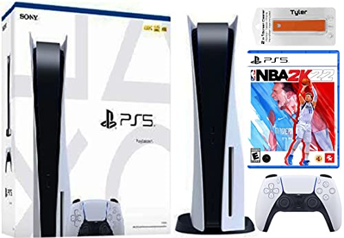 Play-Station 5 Disk Series Console with PS5 NBA-2k22 & Tyler 2 in1 Screen Cleaner New Play Station 5 PS5 Disk Package