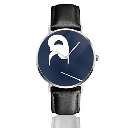 Unisex Business Casual Breakfast at Tiffanys Minimal Uhren Quarz Leder Uhr mit schwarzem Lederband für Männer und Frauen Young Collection Geschenk