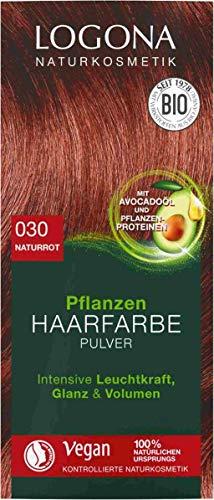 Logona Pflanzen Haarfarbe Pulver 030 naturrot, 4 x 100g