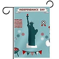 庭の装飾の屋外の印の庭の旗の飾りアメリカの独立記念日 テラスの鉢植えのデッキのため