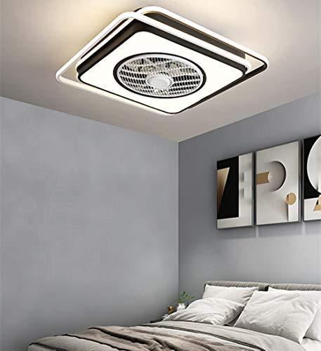 Ventilador de techo de atenuación continuo Luz/ventilador de techo Dormitorio de la luz Restaurante Hogar Smart Remoto Control ultra delgado Araña (Color : D)