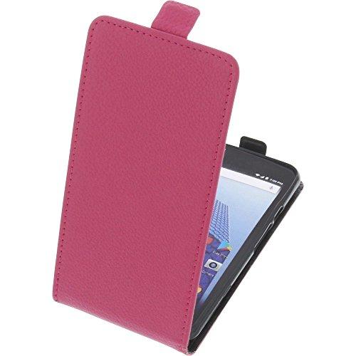 foto-kontor Tasche für Archos Access 50 4G Smartphone Flipstyle Schutz Hülle pink