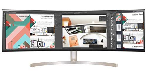 LG 49WL95C-W 124,46 cm (49 Zoll) Curved 32:9 UltraWide™ Dual QHD IPS Monitor (HDR10, USB Type-C, DAS Mode, Rich Bass), schwarz weiß