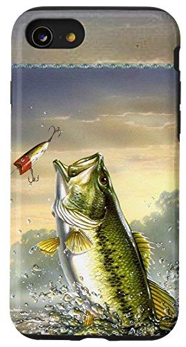 iPhone SE (2020) / 7 / 8 Largemouth Bass Fishing for men Cool Fish Hunting Gift Case