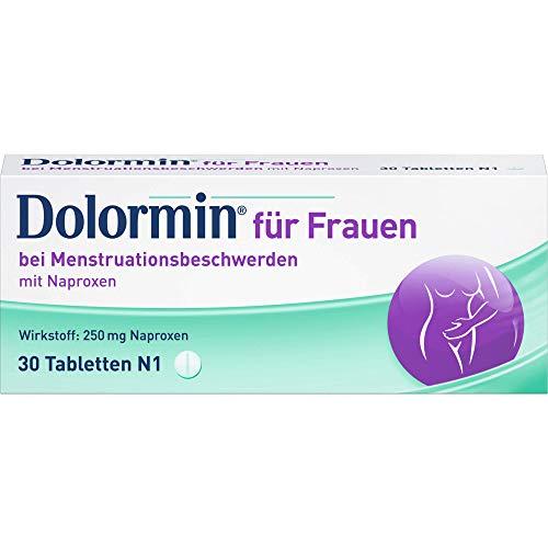 Dolormin für Frauen Tabletten bei Menstruationsbeschwerden, 30 St. Tabletten