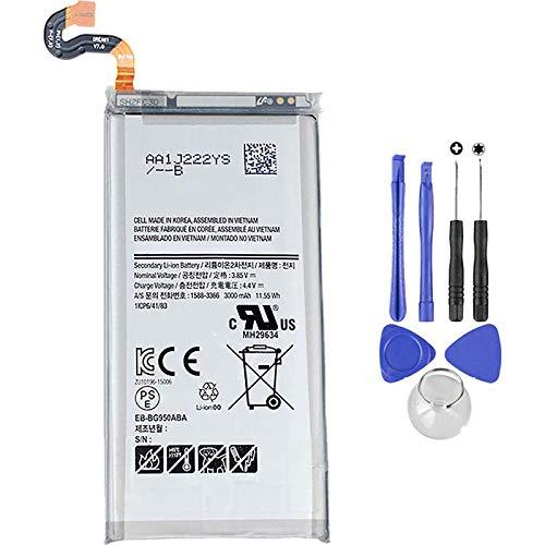 Ellenne Batteria Compatibile con Samsung Galaxy S8 G950F EB-BG950ABE AD Alta capacità 3000MAH con Kit SMONTAGGIO Incluso