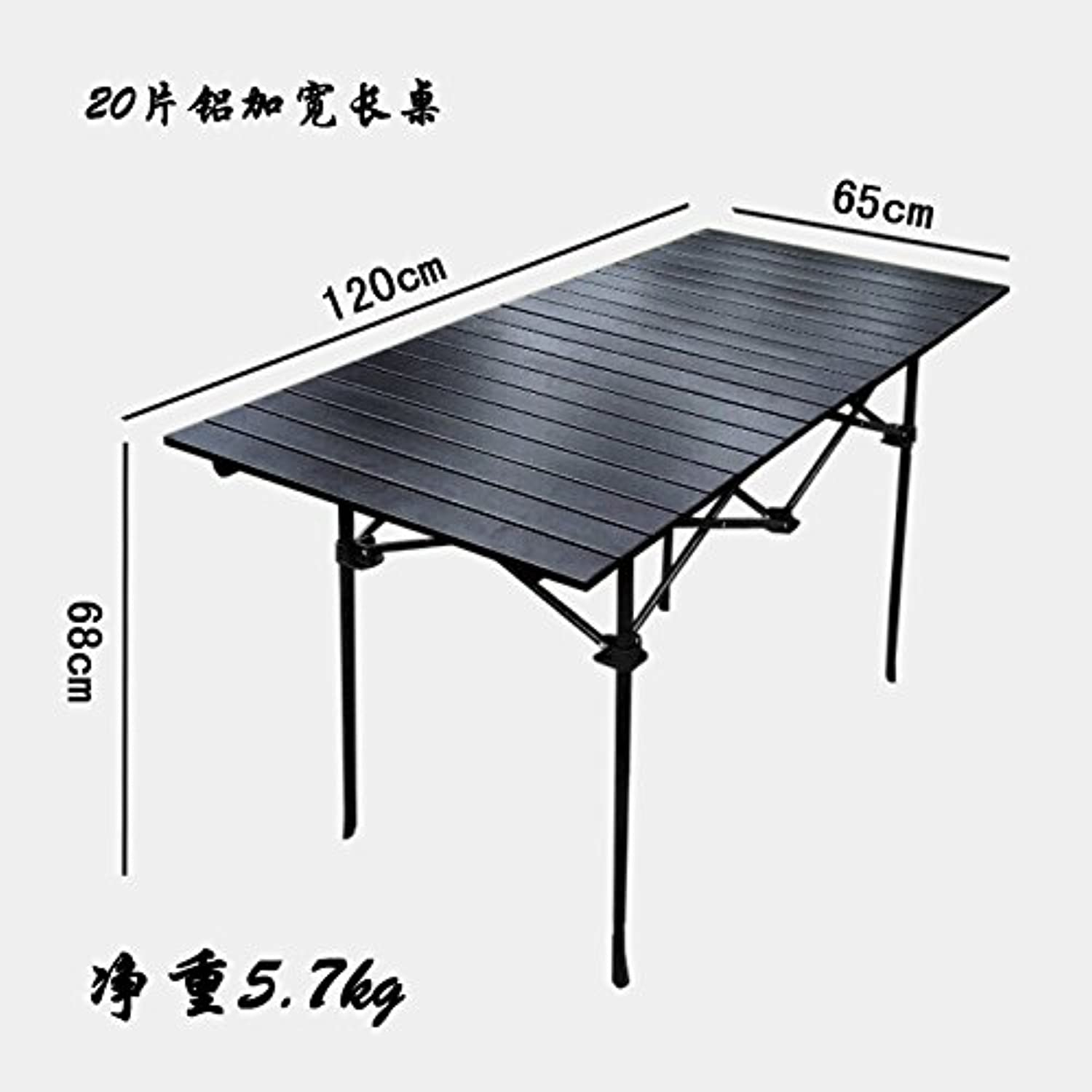 Xing Lin Outdoor Table Outdoor Folding Table Portable Aluminum Alloy Display Stall Table Ultra Light Mahjong Table Beach Barbecue Picnic Table And Chairs, 20 Widened 1206568Cm