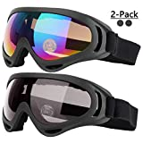 Ski Goggles, Pack of 2, Snowboard Goggles for Kids, Boys &...