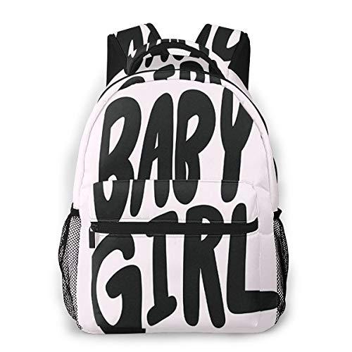 Rucksack Freizeit Und Ausflüge Damen Herren Mädchen, Campus Kinderrucksack, Daypack Tagesrucksack Für Schule, Sportrucksack, Tablet Tasche Glückwunsch, es ist Baby Girl