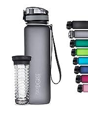 """720°DGREE Trinkflasche """"uberBottle"""" softTouch +Früchtebehälter - 1L - BPA-Frei - Wasserflasche für Sport, Fitness, Uni, Fahrrad, Outdoor - Sportflasche aus Tritan - Leicht, Nachhaltig"""