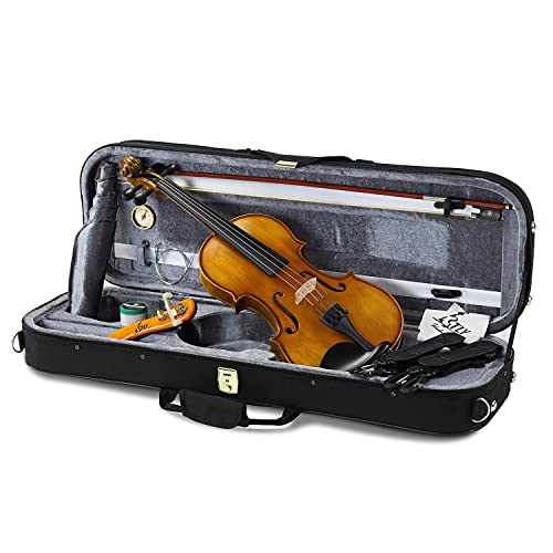 TLY Professional Acoustic Handmade Violin Handmade Ebony Wood Outfit Beginners Pack for Student, Size 1/4