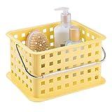 InterDesign Basic corbeille rangement, petit panier salle de bain en plastique pour accessoires de douche et soins,...