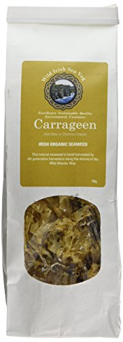Wild Irish Seaweeds Organic Irish Carrageen Retail Pack 40 G(Pack of 1), WIS002