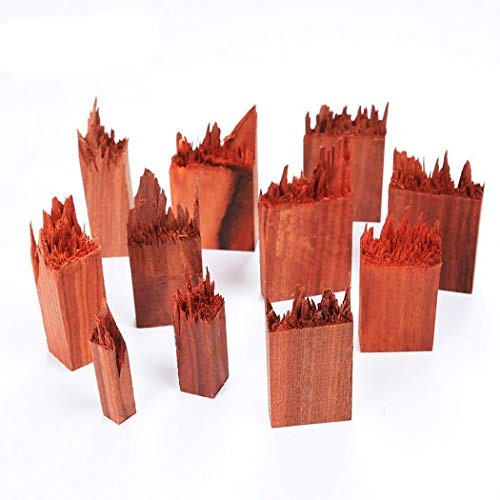 iSuperb 14 Stücke Ebenholz Sandelholz für DIY Holz Harz Epoxid Anhänger Kette Schmuck Ring Broken Wooden Resin Landschaft Einzigartiger Blumen Harzformen Silikonformen (Blutsandelholz)