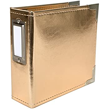 AMC Project Life Album 4x4 Leather Gold
