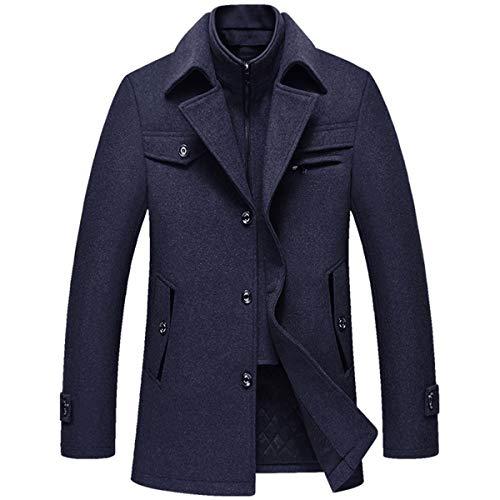 Allthemen - Abrigo para hombre cálido para abrigos de guisantes Azul azul L