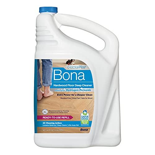 Bona PowerPlus Hardwood Floor Deep Cleaner, Refill-128 Fl Oz