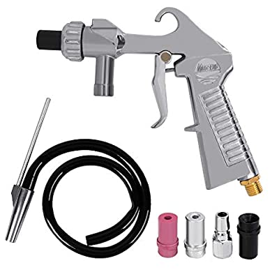 Boshen Abrasive Sandblaster Gun Kit Sand Blasting Air Siphon Feed Tip Nozzle