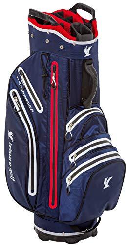 Leisure Golf Aqua Protect Cartbag (Blau/Weiß/Rot)