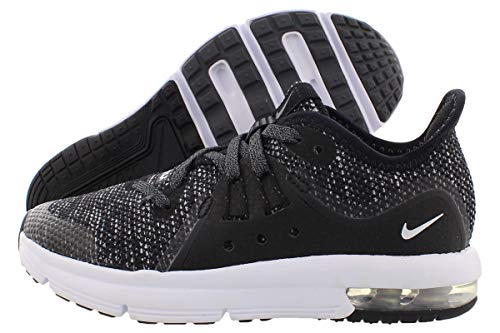 Nike Air Max Sequent 3 Boys Shoes Size 11, Color: Black/White