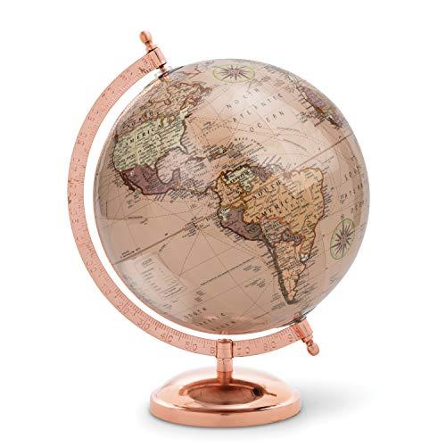 Abbott Collection Globe auf Ständer, Roségold