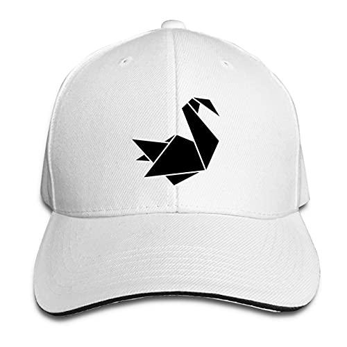 AUDNEDB Origami Swan - Gorra de béisbol para hombre y mujer, diseño clásico, color blanco