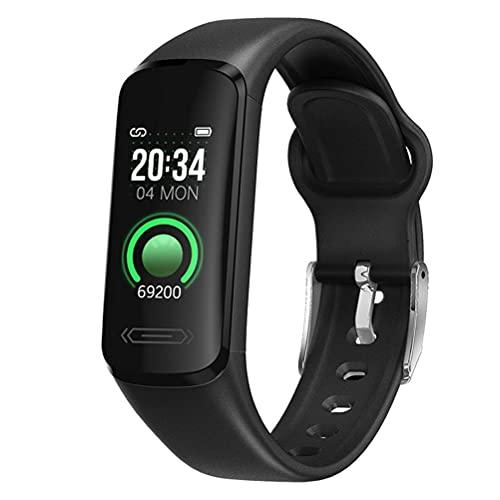 Musun Pulsera de fitness con podómetro, resistente al agua IP68, con pulsómetro, reloj inteligente para mujer, hombre, niños, compatible con iOS y Android