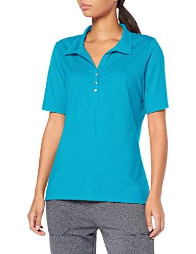 Trigema 537611 Camisa de Polo, Lagune, XXL para Mujer