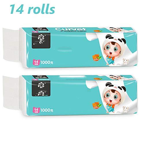 NHY 14 rollen toiletpapier, 4-laags, Ultra Comfort toiletpapier, zijdezacht, zeer absorberend, handdoeken voor dagelijks gebruik, zacht