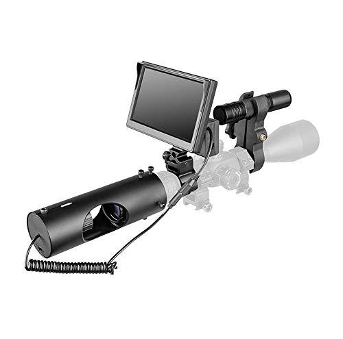 IR Digital Visore Notturno per Fucile da Caccia con videocamera HD e Schermo di visualizzazione Portatile da 5 Pollici