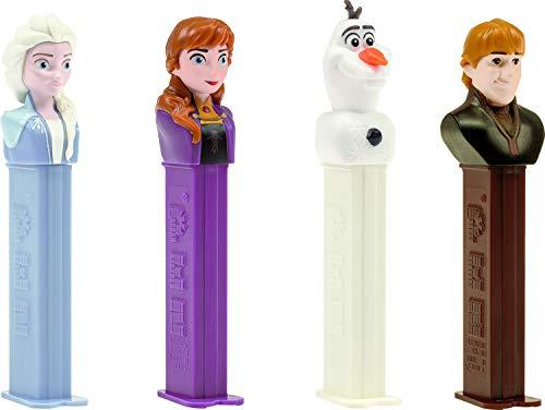 Frozen 2 Pez-dispenser met twee navullingen (afzonderlijk verkocht, één willekeurig karakter meegeleverd)