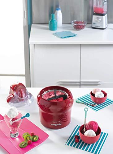 Magimix - Gelatiera con contenitore per gelatina, 15 W, 1,5 l, colore: Rosso
