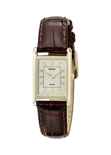 Seiko Women's SUP252 Analog Display Japanese Quartz Brown Watch