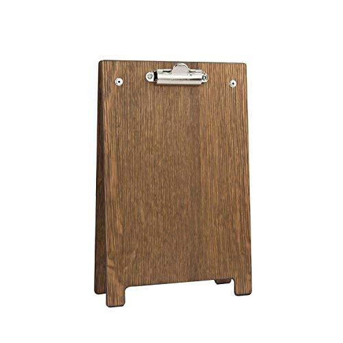 Chalkboards UK Klemmbrett, A-Rahmen, Holz, Holz, dunkle Eiche, A5 (25.8 x 16.8 x 6cm)