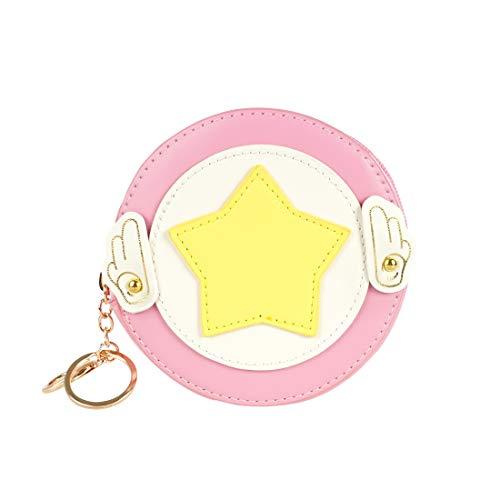 CoolChange Borsetta di Card Captor Sakura per Cosmetici in Cuoio PU, Astuccio Rosa