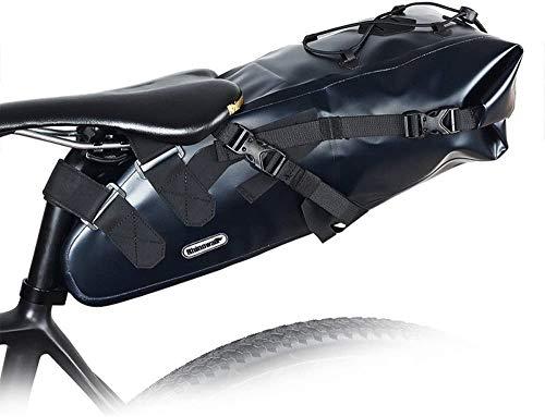 Bolsa de bicicleta De mano Pannier bolso de la bicicleta de la bicicleta multifunción bolsa impermeable bolsa de sillín de la bici bolsa debajo del asiento del asiento bolsa a prueba de lluvia de mont