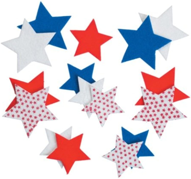 WeGlow International Felt Stars Sticker Set, 104-Piece