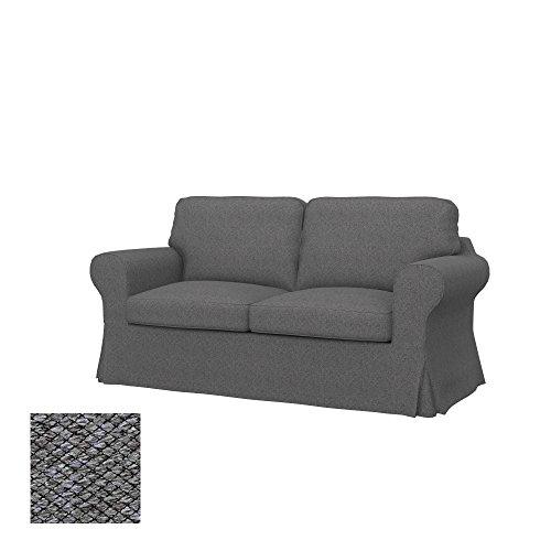 Soferia Bezug fur IKEA EKTORP 2er-Bettsofa, Stoff Nordic Grey