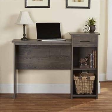 Mainstays Student Desk - Home Office Bedroom Furniture Indoor Desk - Easy Glide Accessory Drawer (Rodeo Oak)