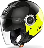 CASCO AIROH HELIOS FLUO BLACK/YELLOW GLOSS L