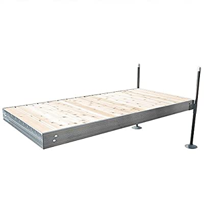 8 ft. Long Straight Aluminum Frame with Cedar Decking Complete Dock Package detail review