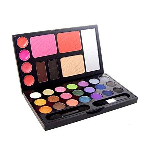Augenschminkeset (Lidschatten + Blush + Puder + Lippenstift + Augenbraue-Puder) Make-up-Set , 2