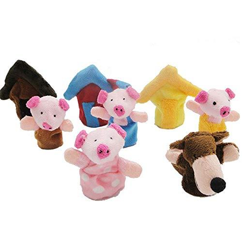 Goodplan Fingerpuppen Plüsch Fingerpuppe Weiche Puppen Spielzeug Lernspielzeug für Baby und Kleinkinder 8 Stücke